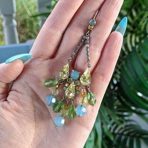 Sorrelli Chandelier Yellow/Green Crystal Earrings